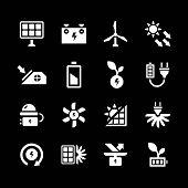 Set Icons Of Alternative Energy Sources