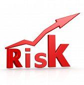 Risk Word With Arrow