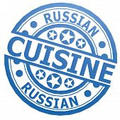 Russian Cuisine Stamp