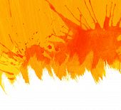 Orange watercolor background.