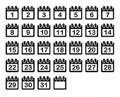 Simple Calendar Month Icons Set. Vector