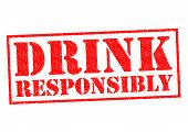 picture of bing  - DRINK RESPONSIBLY red Rubber stamp over a white background - JPG