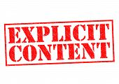 pic of explicit  - EXPLICIT CONTENT red Rubber Stamp over a white background - JPG