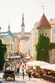Famous Viru Gate - Part Old Town Architecture Estonian Capital, Tallinn, Estonia