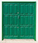 Green, Canarian, slightly weathered double door