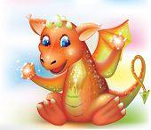 Magic Baby Dragon Cartoon