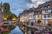 Colorful Traditional French Houses On The Side Of River