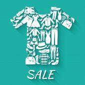 Clothes sale concept