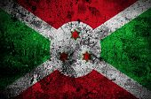 Grunge Flag Of Burundi With Capital In Bujumbura