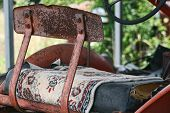 Rusty Vintage Tractor Seat Carpet