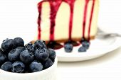 Fresh Blueberries And Cheesecake
