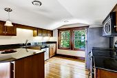 picture of vault  - Upstairs kitchen room with vaulted ceiling and window - JPG