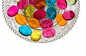 Dulces de caramelo de plato