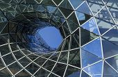 Architectural details of the MyZeil shopping mall in Frankfurt Germany