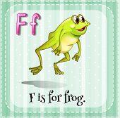 Illustration of a letter F is for frog