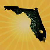 Florida sunburst map with hex code illustration