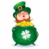 Leprechaun and a pot of gold