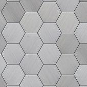 High Tech Tiled Aluminum Background