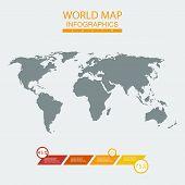 Vector world map chart.