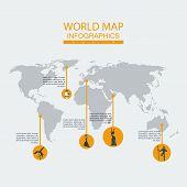 Vector world map ethnos.