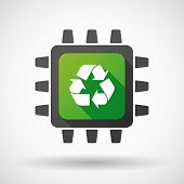 Cpu Icon With A Recycle Sign