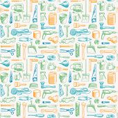 Tools Instruments Seamless Pattern 3 Vector