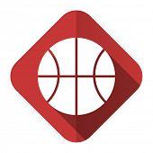 ball flat icon basketball sign