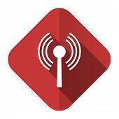 wifi flat icon wireless network sign