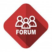 forum flat icon