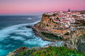 Sunset In The Town Azenhas Do Mar. With Natural Pool.