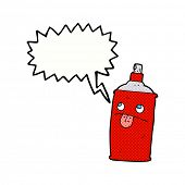 picture of spray can  - cartoon spray can with speech bubble - JPG