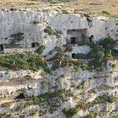 Caves in Mellieha valley, Malta