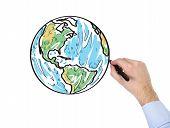 Hand Drawing World Map