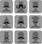Moustache Men - Web Icon Set