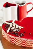 Strawberry Mousse Cake In The Shape Of A Heart