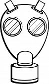 pic of gas mask  - wwii military gas mask - JPG