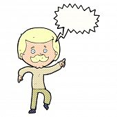 cartoon dancing dad with speech bubble