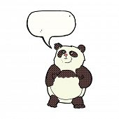 cartoon panda with speech bubble