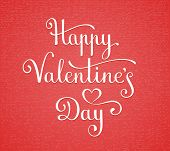 Happy Valentine's Day lettering. Vector illustration