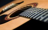 Acoustic Guitar Laying Down Tilted