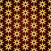 Gold Retro Dry Flower Pattern On Pastel Color