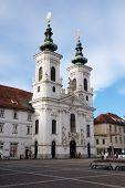 GRAZ, AUSTRIA - JANUARY 10, 2015: Mariahilf church in Graz, Styria, Austria on January 10, 2015.
