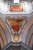 SALZBURG, AUSTRIA - DECEMBER 13: Saint Matthew the Evangelist, fragment of the dome in Salzburg Cathedral on December 13, 2014 in Salzburg, Austria.