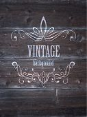 Vintage wood texture with frame.