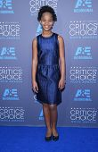 LOS ANGELES - JAN 16:  Quvenzhane Wallis arrives to the Critics' Choice Awards 2015  on January 16, 2015 in Hollywood, CA