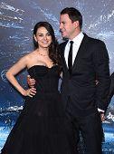 LOS ANGELES - FEB 02:  Mila Kunis & Channing Tatum arrives to the