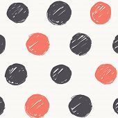 Abstract Vector Pattern. Simple Hand Drawn Round Brush Strokes. Paint Texture.