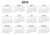 simple calendar 2016 monday first