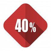 40 percent flat icon sale sign
