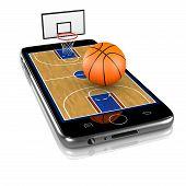 Basketball On Smartphone, Sports App